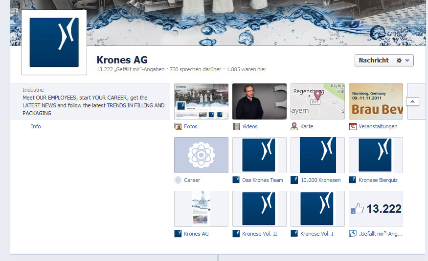 Die neue Facebook Chronik für Unternehmen - Tabs